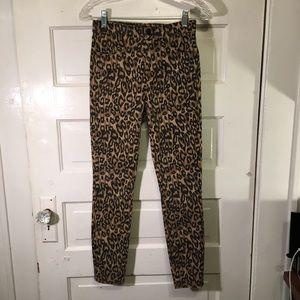 J Brand Sz 25 Alana Gold Leopard Print Jean